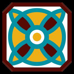 Círculo de flor de pétala de mosaico plana