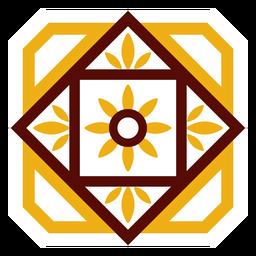 Mosaik Blütenblatt Blütenkreis Raute flach