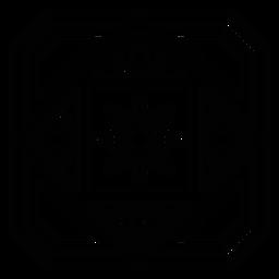 Mosaic petal flower circle frame rhomb stroke