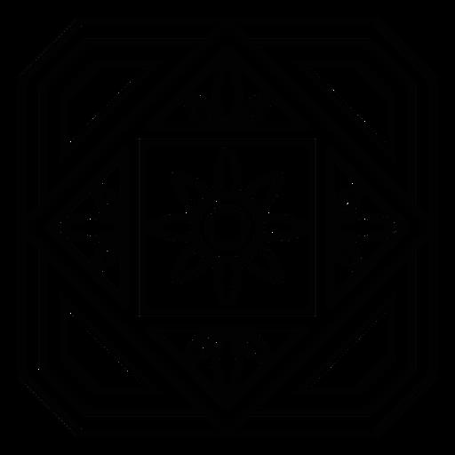 Mosaic petal flower circle rhomb stroke Transparent PNG