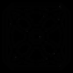 Pincel de mosaico pétala de círculo
