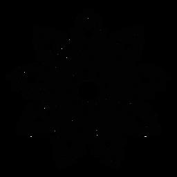 Ausführliches Schattenbild der Mosaikblumenblatt-Blume