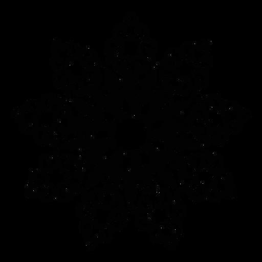 Ausführliches Schattenbild der Mosaikblumenblatt-Blume Transparent PNG