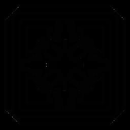 Flor de pétalo mosaico marco trazo