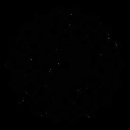 Adesivo de distintivo quadrado de flor de pétala de mosaico