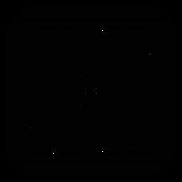 Flor detalhada do quadro quadrado da pétala do mosaico silhueta