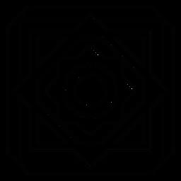 Mosaik Raute Kreis Blume Rahmenlinie