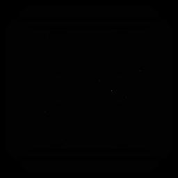 Quadratische Silhouette des Mosaik-Rautenkreises