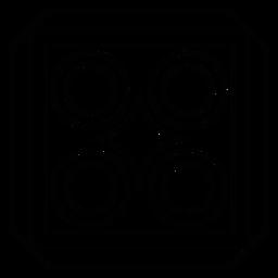 Línea cuadrada del círculo rombo mosaico