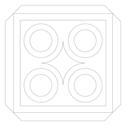 Linha quadrada do círculo rhomb mosaico