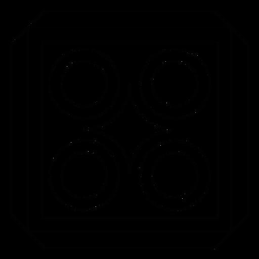 Línea cuadrada del círculo rombo mosaico Transparent PNG