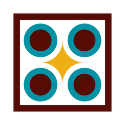 Mosaik Raute Frame Kreis Quadrat flach