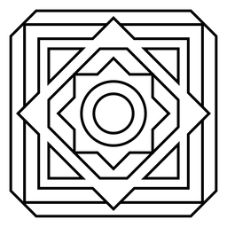 Mosaico rhomb frame círculo quadrado flor acidente vascular cerebral
