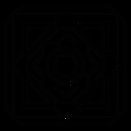 Quadratischer Blumenstrich des Mosaik-Rautenkreises