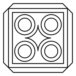 Mosaic rhomb circle square stroke