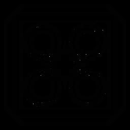 Mosaic rhomb frame circle square stroke