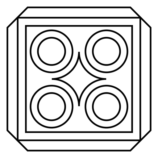Mosaic rhomb circle square stroke Transparent PNG