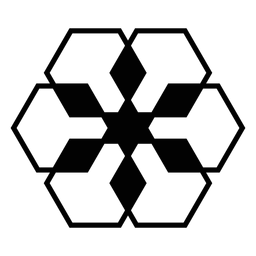 Mosaico rombo hexahedro silueta detallada