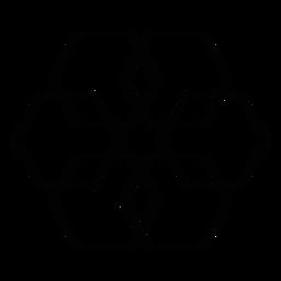 Mosaic rhomb hexahedron stroke