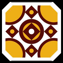 Mosaico cuadrado marco cuadrado plano