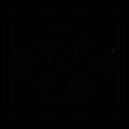 Curso de círculo de moldura quadrada de mosaico