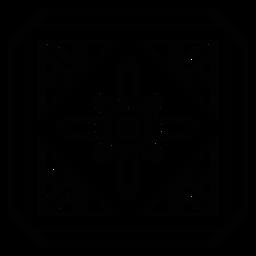 Traçado de flor de pétala de quadro quadrado de mosaico