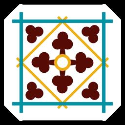 Mosaik quadratischen Rahmen Raute flach