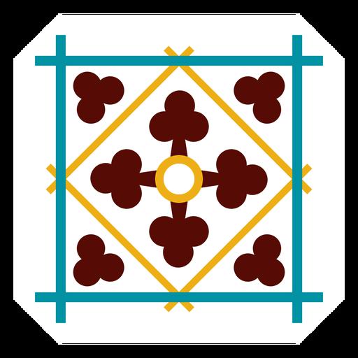 Mosaik quadratischen Rahmen Raute flach Transparent PNG