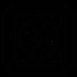Mosaic square frame rhomb stroke