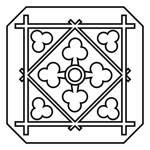 Mosaic square rhomb stroke Transparent PNG