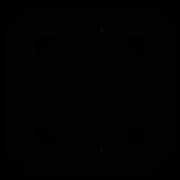 Silhueta detalhada do triângulo do rhomb do frame quadrado do mosaico