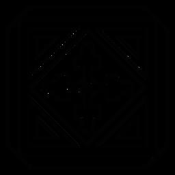 Mosaik quadratische Rauten-Dreieckslinie