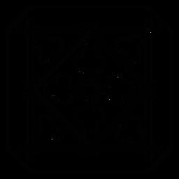 Linha de moldura de seta de losango de mosaico quadrado