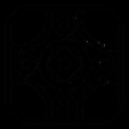 Linha de círculo de losango quadrada em mosaico