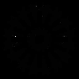 Mosaic star salute firework silhouette