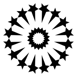 Mosaico estrella saludo fuegos artificiales silueta
