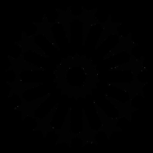 Mosaico estrella saludo fuegos artificiales silueta Transparent PNG