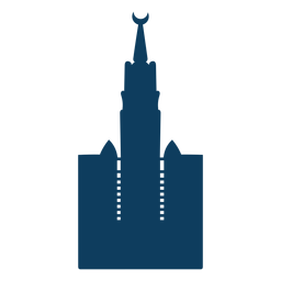 Halbmond-Turmhaubenschattenbild der Moschee