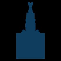 Mezquita media luna torre cúpula silueta