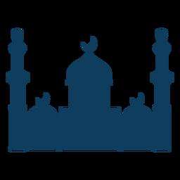 Mezquita cúpula de la torre de la silueta de la media luna
