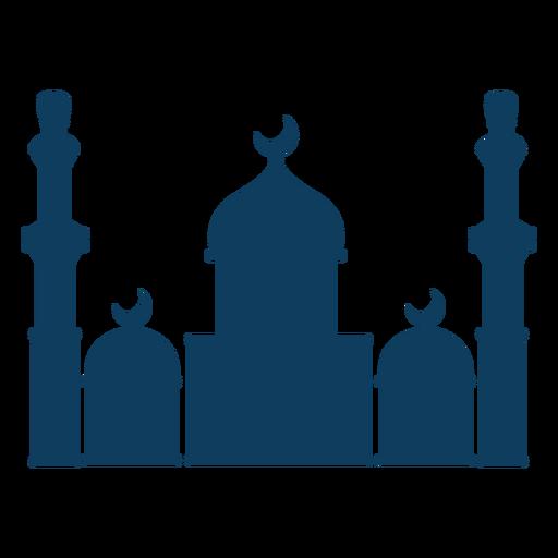 Mezquita cúpula de la torre de la silueta de la media luna Transparent PNG