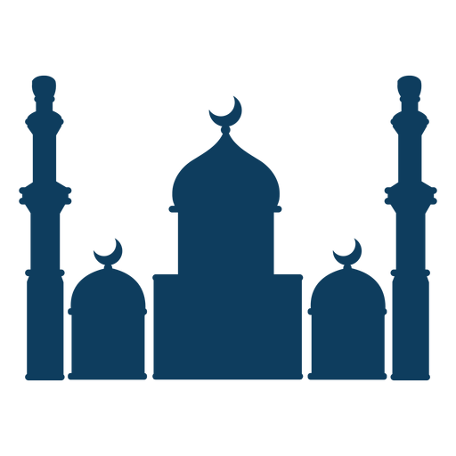 Mosque dome crescent tower silhouette Transparent PNG