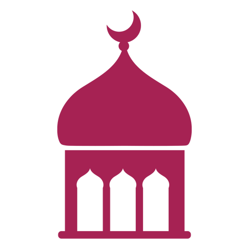 Mezquita, cúpula, torre, media luna, silueta detallada Transparent PNG