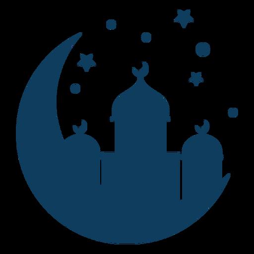 Mezquita cúpula torre media estrella silueta Transparent PNG
