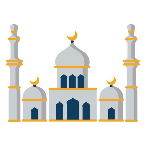 Mosque tower dome crescent flat Transparent PNG