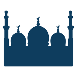 Mezquita torre cúpula media luna silueta