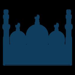 Moschee Turm Kuppel Halbmond Silhouette