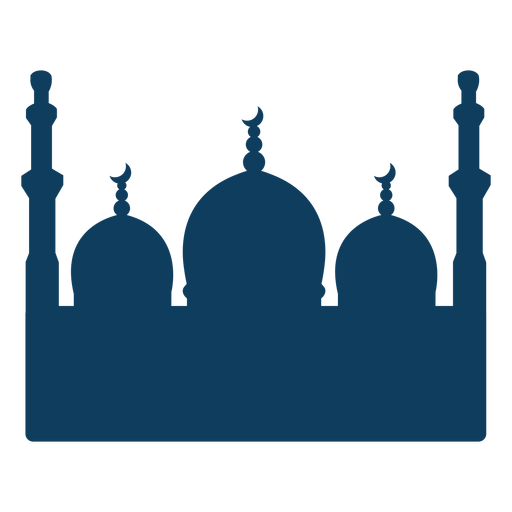 Mosque tower dome crescent silhouette