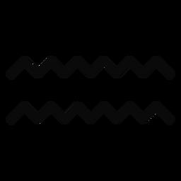 N silhueta de simetria de par de onda de gota de água