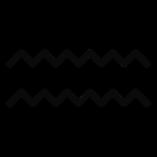 N silhueta de simetria de par de onda de gota de água Transparent PNG